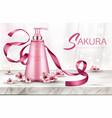cosmetics sprayer bottle mock up empty liquid soap vector image