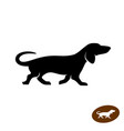 dachshund dog running silhouette vector image vector image
