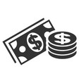 dollar cash flat icon vector image vector image