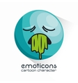 emoticon vomiting sad design vector image
