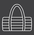 fitness bag line icon fitness and sport vector image vector image