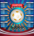 Football Champions Groups and Teams vector image vector image