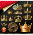 golden royal crowns vector image vector image