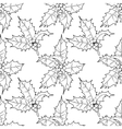 Graphic leaves and berries seamless pattern vector image