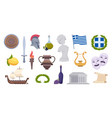 greece objects traditional ancient old greek vector image vector image