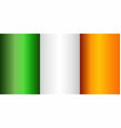grunge flag of ireland vector image vector image