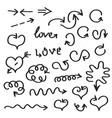 hand written arrows vector image