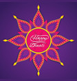happy diwali greeting design vector image