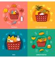 Healthy Food Supermarket Basket Composition vector image vector image