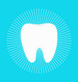healthy white tooth round icon dash line circle vector image vector image