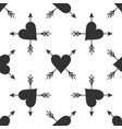 heart with arrow icon isolated seamless pattern vector image