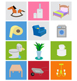 households icons vector image vector image