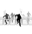 Hurdling businessmen vector image vector image