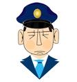 Icon men police vector image vector image