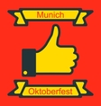 Icon of Thumb Up for Oktoberfest Party vector image