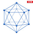 icosahedron with molecular style vector image vector image