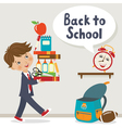 It is time to go to school vector image vector image