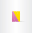 letter n logotype design vector image vector image
