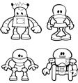 little robots vector image vector image