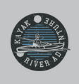 logo design life is better afloat with man vector image