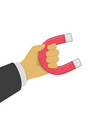 magnet in hand vector image vector image