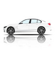 modern car sedan white color white background vect vector image