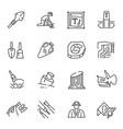 monochrome archeology icon set