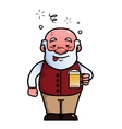 Old man being drunk vector image vector image