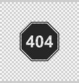 page with a 404 error icon isolated vector image
