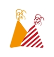 party hats decoration vector image vector image
