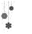 pattern garland black silhouette with snowflake vector image vector image
