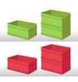 plastic box vector image