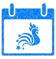 Rooster Fireworks Calendar Day Grainy Texture Icon vector image vector image