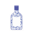 russian vodka bottle gzhel painting national folk vector image