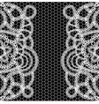 seamless black background with white lace vector image vector image