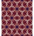 seamless geometry violet colour vintage pattern vector image