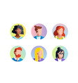 set avatars icons vector image