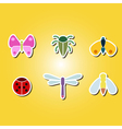 set of color icons with various insects vector image vector image