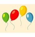 Set of four colorful baloons vector image