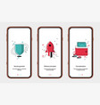 set start screens for mobile app design shield vector image
