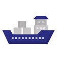 ship boat cargo icon vector image