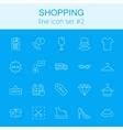 Shopping icon set vector image vector image