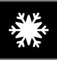 snowflake white icon cartoon snow flake sign vector image