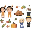 Thanksgiving icons vector image vector image