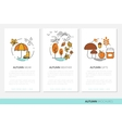 Thin Line Autumn Business Brochures with Fall vector image vector image