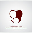 tooth icon simple vector image