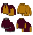 Vinous and mustard hoodies vector image vector image
