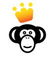 VIP monkey icon vector image