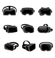 virtual reality helmet vr future technology for vector image vector image