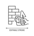 wall building linear icon vector image